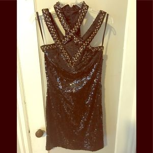 Vintage Niteline 80s Sequin Cocktail Dress